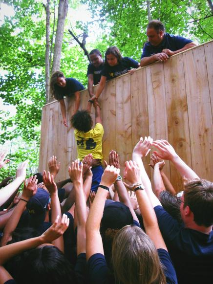 Blavin Scholars at Fall Welcome Challenge Course