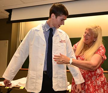 Blavin Scholar Joseph Sedlak on White Coat Day at Harvard Medical School